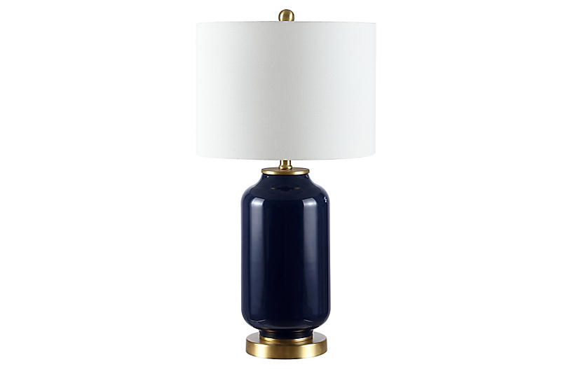 Willow Table Lamp, Navy