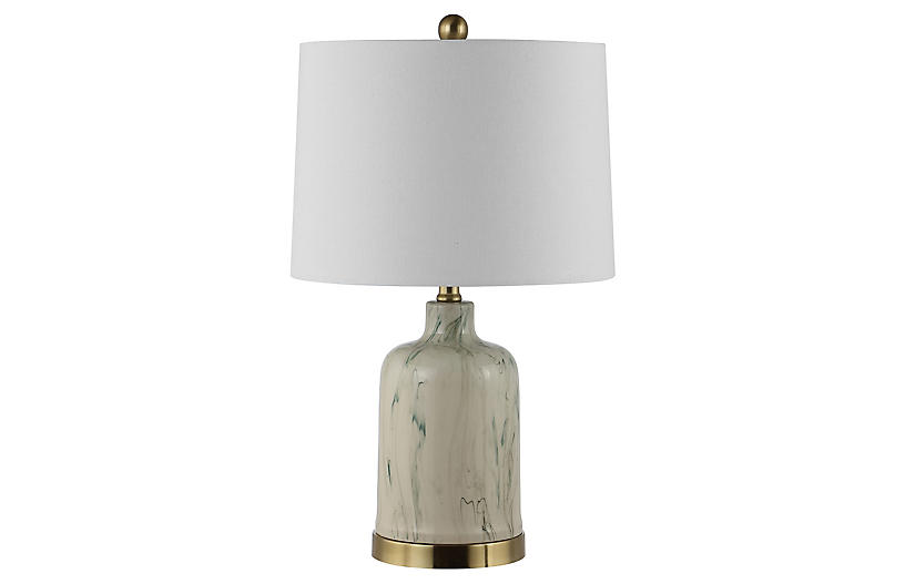 Everly Table Lamp, Gray