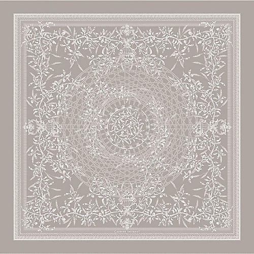 Persephone Tablecloth, Gray/White