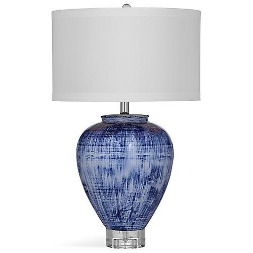 Chapel Table Lamp, Blue Rinse