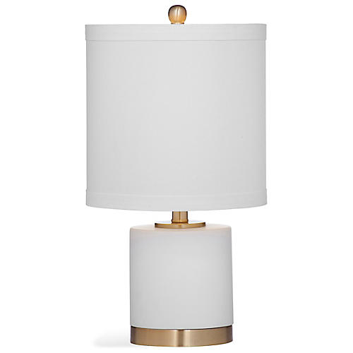 Reign Table Lamp, White/Gold
