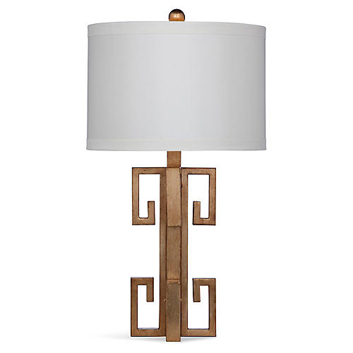 Rowan Table Lamp, Gold Leaf