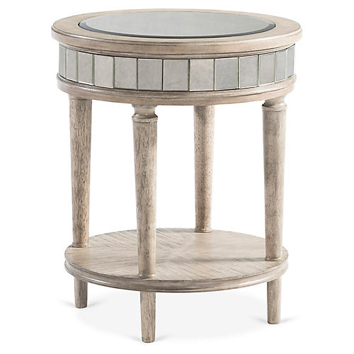 Abrielle Round Side Table, Tea
