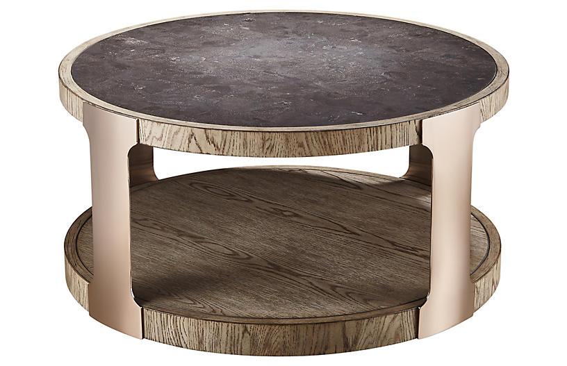Obel Coffee Table, Weathered Oak