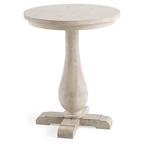 Milbrook Pedestal Side Table, Natural