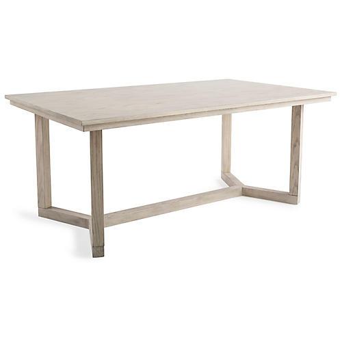 Dorsett Trestle Dining Table, Natural