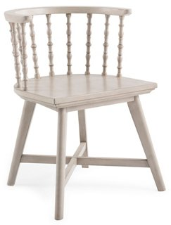 Wythe Windsor Chair, Natural - come be inspired by Get the Look: Warm White Living Room Design With Unfussy Sophisticated Style...certainly soothing indeed.