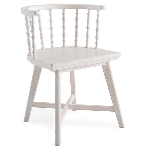 Wythe Windsor Chair, Whitewash