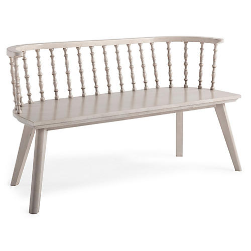Wythe Windsor Bench, Natural