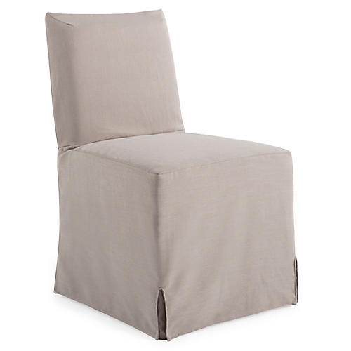 Lovell Slipcover Side Chair, Mushroom