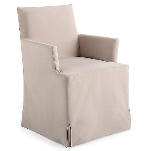 Lovell Slipcover Armchair, Natural