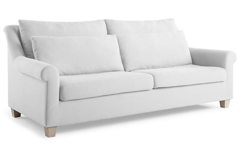 Excellent Laurel Roll Arm Sofa White Onthecornerstone Fun Painted Chair Ideas Images Onthecornerstoneorg