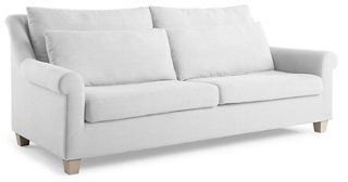 Laurel Roll-Arm Sofa, White