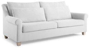 Laurel Roll-Arm Sofa, White