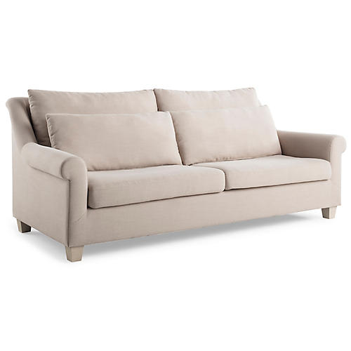 Laurel Roll-Arm Sofa, Natural