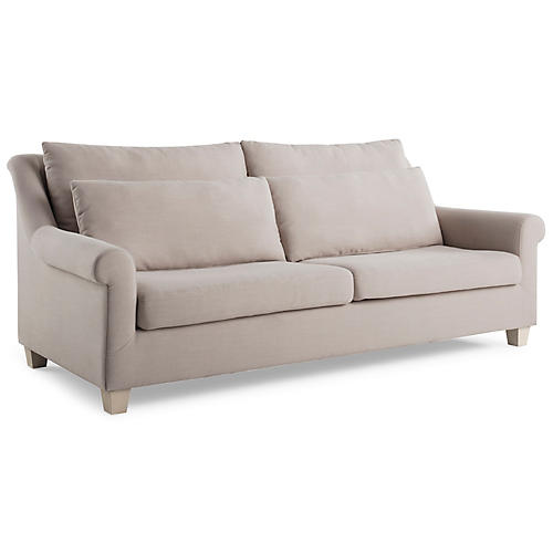 Laurel Roll-Arm Sofa, Mushroom
