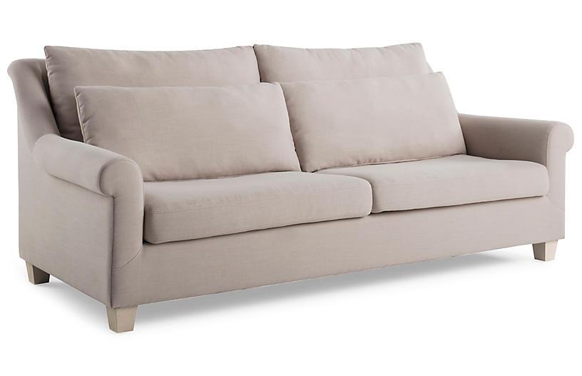 Incredible Laurel Roll Arm Sofa Mushroom Inzonedesignstudio Interior Chair Design Inzonedesignstudiocom