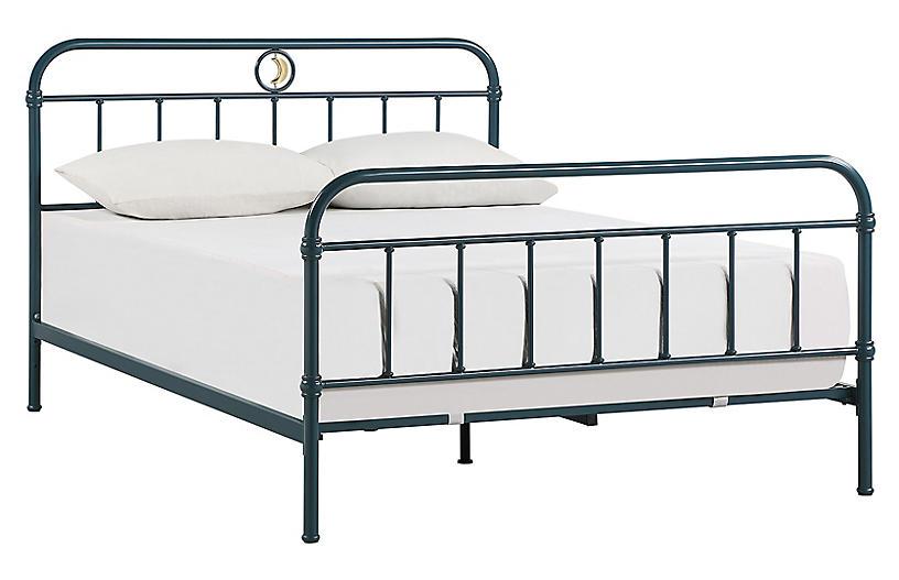 Henry Platform Bed, Blue