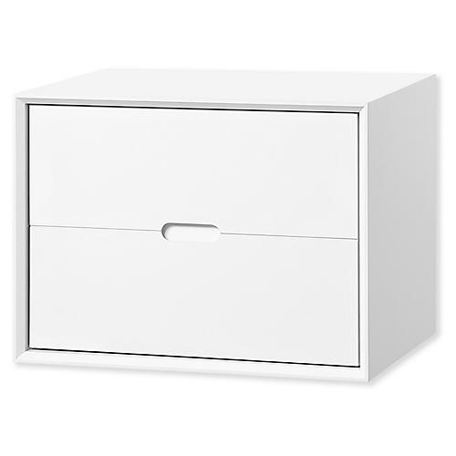 Jensen Deep Storage Chest, White