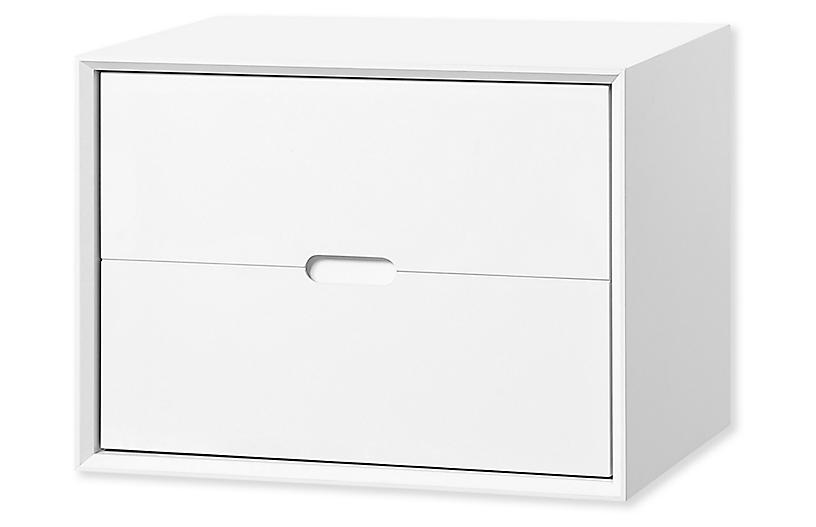 Jensen Deep Storage Chest, White