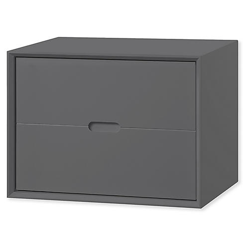 Jensen Deep Storage Chest, Dark Gray