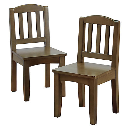 S/2 Kingsley Play Chairs, Driftwood