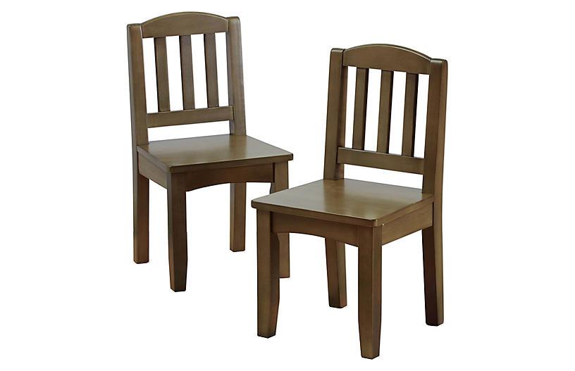 S/2 Garrison Play Chairs, Driftwood