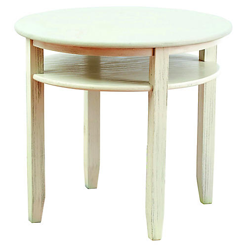 Kingsley Round Play Table, White