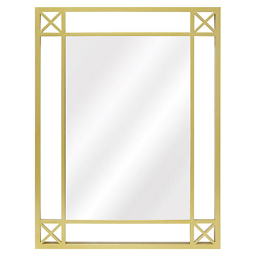 Beatrix Wall Mirror, Brass