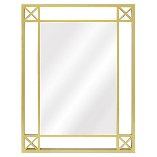 Beatrix Wall Mirror, Brass