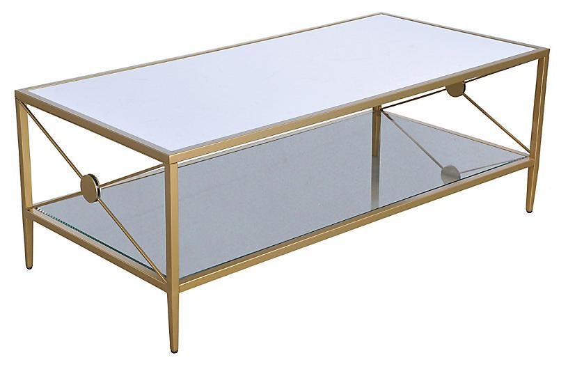 Beatrix Coffee Table, Brass