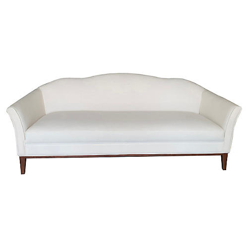 Eleanor Camelback Sofa, Ivory