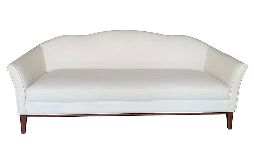 Eleanor Camelback Sofa, Ivory