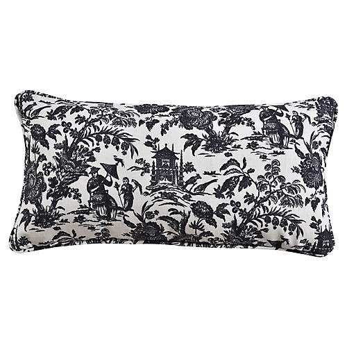 Maura 12x23 Lumbar Pillow, Gray