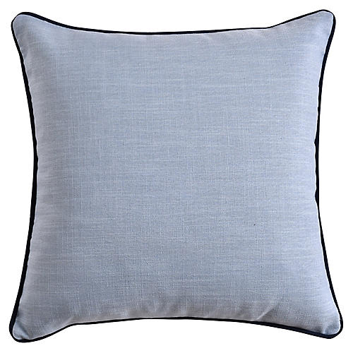 Jocelyn 22x22 Pillow, Soft Blue