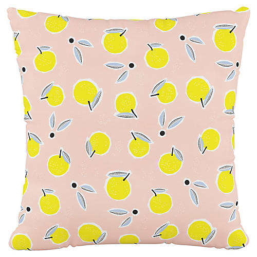Addison 18x18 Pillow, Lemon Pink