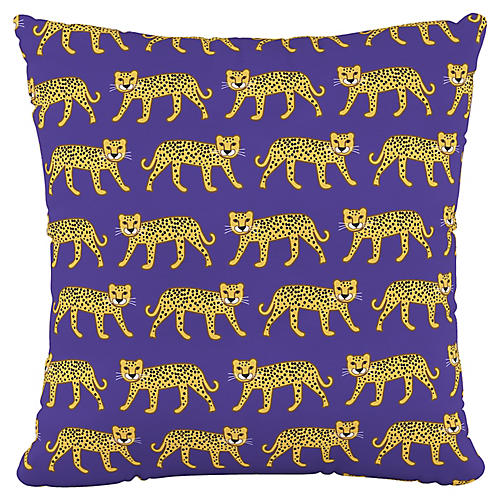 Addison 18x18 Pillow, Cheetah Blue