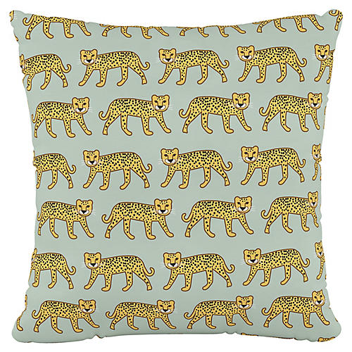 Addison 18x18 Pillow, Cheetah Sage