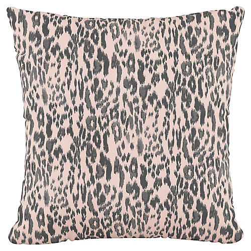 Addison 18x18 Pillow, Glam Cheetah Pink