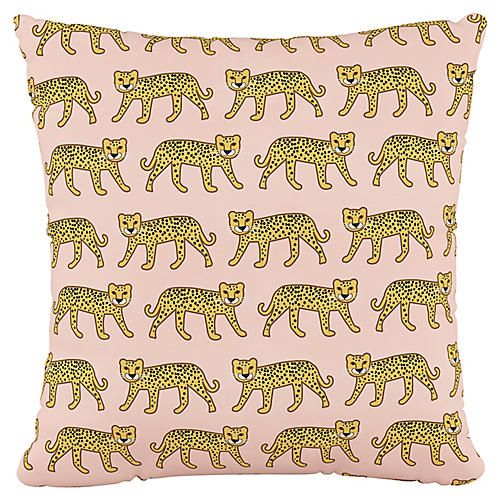 Addison 18x18 Pillow, Cheetah Pink