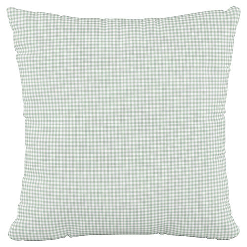 Addison 18x18 Pillow, Gingham Sage