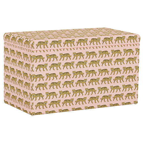 Sebastian Storage Bench, Cheetah Pink