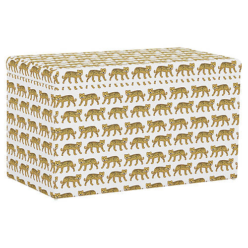 Sebastian Storage Bench, Cheetah White