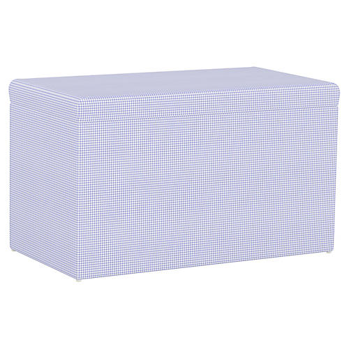 Sebastian Storage Bench, Gingham Blue