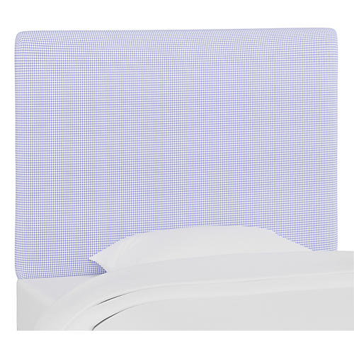 Jordan Headboard, Gingham Blue