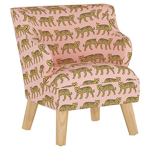 Stella Chair, Cheetah Pink
