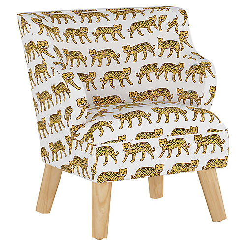 Stella Chair, Cheetah White
