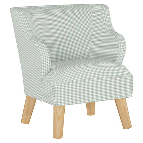 Stella Chair, Gingham Sage