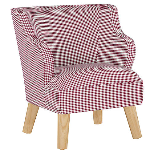 Stella Chair, Gingham Burgundy