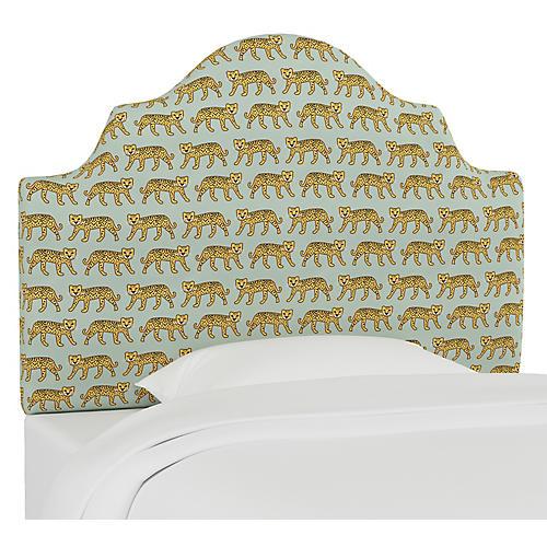 Harper Scalloped Headboard, Cheetah Sage